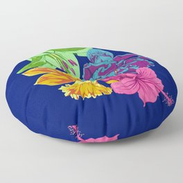 Octopus Flower Garden Floor Pillow