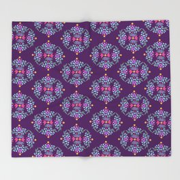 Royal Gardens (purple) Throw Blanket