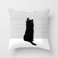 Cat Scratch Throw Pillow