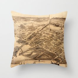 Map Of Collingwood 1875 Throw Pillow