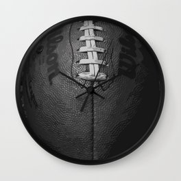 Big American Football - black &white Wall Clock
