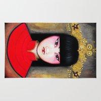 asia Area & Throw Rugs featuring Asia by Melanie Arias