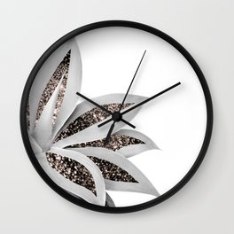 Agave Finesse Glitter Glam #1 #tropical #decor #art #society6 Wall Clock