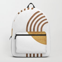 Transitions - White 01 - Minimal Geometric Abstract Backpack