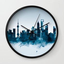 Shanghai Skyline Wall Clock