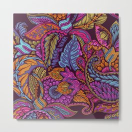 Paisley Dreams - sunset colors Metal Print