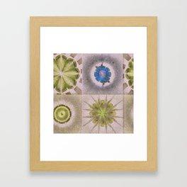 Underbuys Configuration Flowers  ID:16165-093621-68510 Framed Art Print