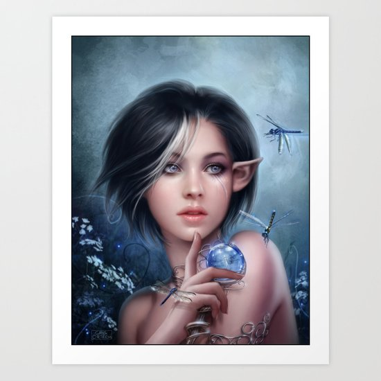 the curse of the dragonfly Art Print