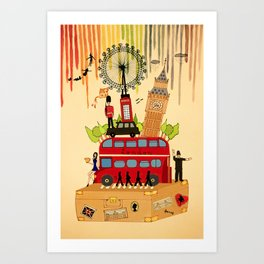 Rainbow Cities ~ London Art Print