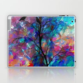 Love Birds Abstract #society6 #decor #lovebirds by Lena Owens @OLena Art Laptop & iPad Skin