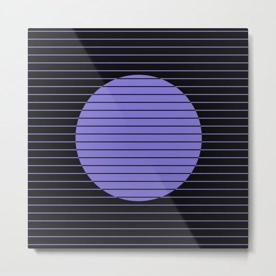 Difference (Minimalistic, pastel blue and black, geometric design) Metal Print