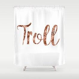 Rose gold troll Shower Curtain