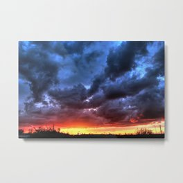 Angry Sunset Metal Print