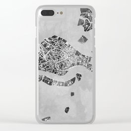 Venice Italy City Map Clear iPhone Case