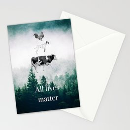 All lives matter go vegan Stationery Cards