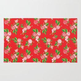 Red Summer Rose Rug