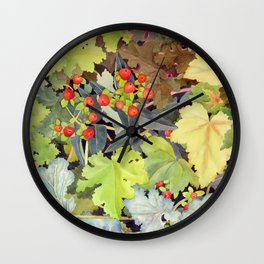 Hypericum & heuchera Wall Clock