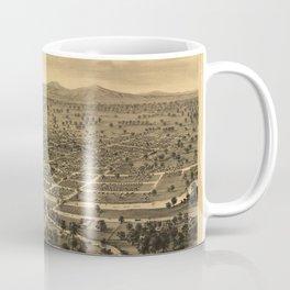 Vintage Bird's Eye Map Illustration - Santa Rosa, Sonoma County, California (1876) Coffee Mug