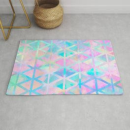Pink pastel aztec pattern Rug