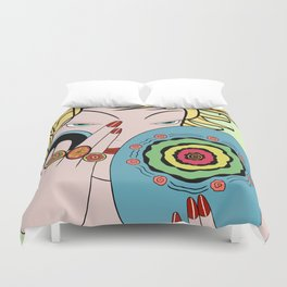 CORRINE: Art Deco Lady - SUMMER ROMANCE Duvet Cover
