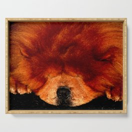 Sleeping Chow Chow Serving Tray