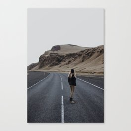 The Lonesome Longboarder Canvas Print