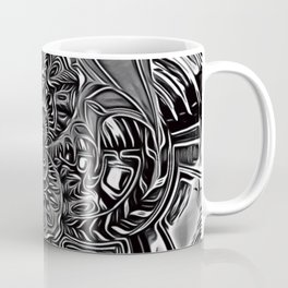 Subconscious Healing Frequency Black and White Edition Coffee Mug