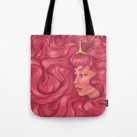 princess bubblegum Tote Bags featuring Princess Bubblegum by Persefone