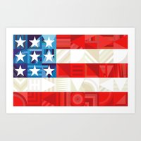 america Art Prints featuring America by Fimbis