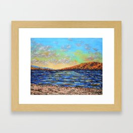 Canadice Lake by Mike Kraus - art finger lakes upstate ny new york seascape landscape beach clouds Framed Art Print