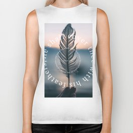 Psalm 91: He shall cover thee with his feathers Biker Tank