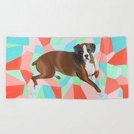 Hannah the Boxer Dog Beach Towel