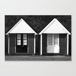 Beach Cabins Canvas Print