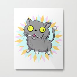 Wuzzy - Eldritch Cat God of Death (and marketing)  Metal Print