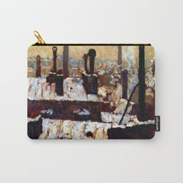 Gustave Caillebotte Roofs Under the Snow Carry-All Pouch
