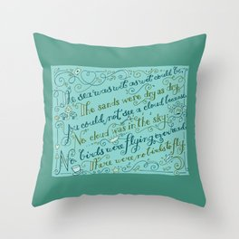 The Walrus and the Carpenter, Stanza 3 Throw Pillow