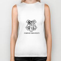 fandom Biker Tanks featuring fandom university  by Synne Vestvik