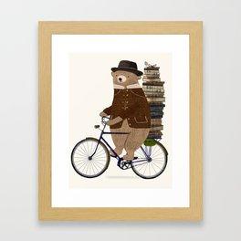 an educated bear Framed Art Print