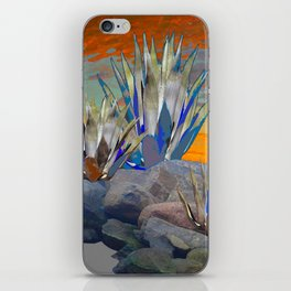 AGAVE CACTI DESERT SUNSET LANDSCAPE ART iPhone Skin