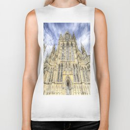 York Minster Cathedral Snow Art Biker Tank