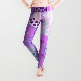 Ice Bubble Pattern Purple Leggings