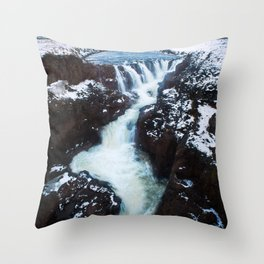 Waterfall in Iceland Print (RR 267) Throw Pillow