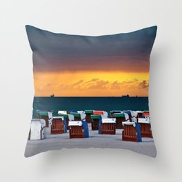 Before the summer storm Throw Pillow