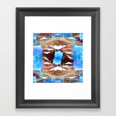 There's no wait that fails to contemplate caveats. Framed Art Print