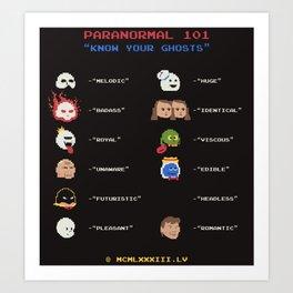 Paranormal 101 Art Print