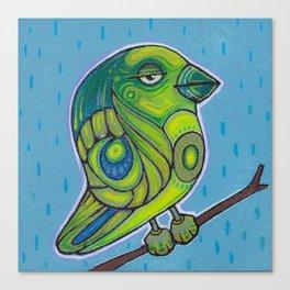 Doodlebird Greeny Canvas Print