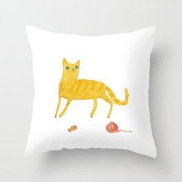 Nice Ginger Cat Throw Pillow
