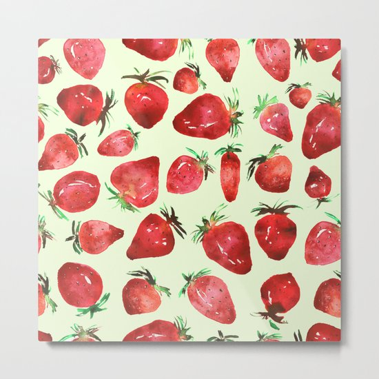 Strawberry vibes Metal Print