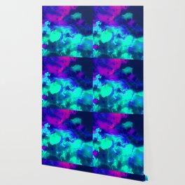 Glowing Grapes - Fruity Ink Fluid Wallpaper