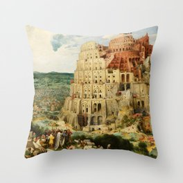 The Tower of Babel 1563 Throw Pillow